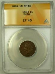 1864 Indian Head Cent With L/L On Ribbon S-3 RPM-03 FS-2302 1c ANACS  (WW)