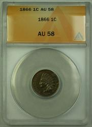 1866 Indian Cent Penny 1c Coin ANACS  (Better Coin) RJS