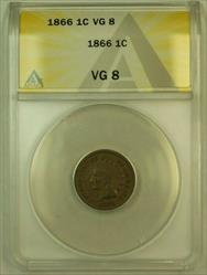 1866 Indian Head Cent 1c ANACS