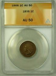 1866 Indian Head Cent 1c ANACS  (WW)