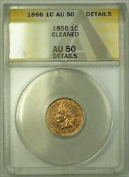 1866 Indian Head Cent ANACS  Details Cleaned (23)