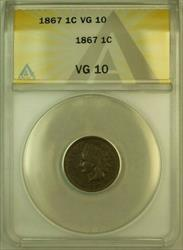 1867 Indian Head Cent Penny 1c ANACS