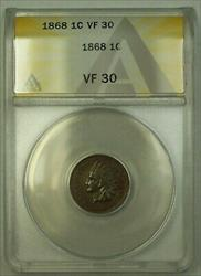 1868 Indian Head Cent ANACS  (23)
