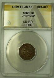 1869 Indian Head Cent ANACS  Details Damaged (23)
