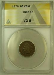 1870 Indian Head Cent Penny 1c ANACS