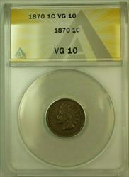 1870 Indian Head Cent Penny 1c ANACS  (A)