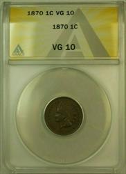 1870 Indian Head Cent Penny 1c ANACS  (B)