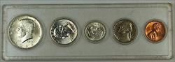 1964 Uncirculated Year Set with Silver Half, Quarter, and Dime, 5 Coins Total