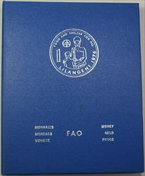 1976 Complete BLUE FAO World 34-Coin Album W/ Silver/Proof Coins As Issued