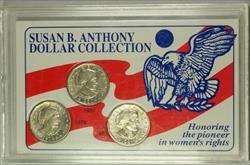 1979-1981 Susan B Anthony Dollar $1 Coin Collection SSCA
