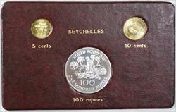1981 FAO World Food Day October 16 Album Insert Seychelles 5 & 10 cent 100 rupee