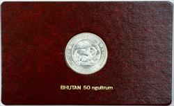 1981 FAO World Food Day October 16 Album Insert, Bhutan 50 Ngultrum Coin Silver