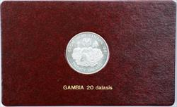 1981 FAO World Food Day October 16 Album Insert, Gambia 20 Dalasis Coin Silver