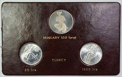 1981 FAO World Food Day October 16 Album Insert, Hungary 100 forint, Turkey lira