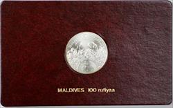 1981 FAO World Food Day October 16 Album Insert, Maldives 100 Rufiyaa Coin
