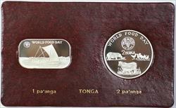 1981 FAO World Food Day October 16 Album Insert, Tonga 1 Pa'anga & 2 Pa'anga