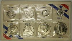 1982 P & D Complete Year Set Small and Large Dates Uncirculated