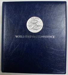 1984 Complete FAO World Fisheries Conference Coin Album As Issued 12 Coins