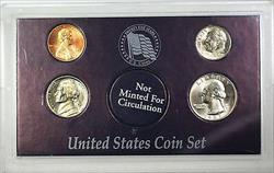 1987 4 Coin Year Set Mixed Mint Marks Mostly Uncirculated