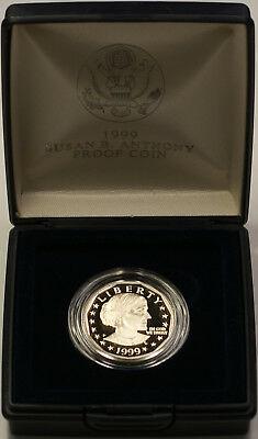 1999 Susan B. Anthony $1 Proof Coin Original US Mint Case No COA