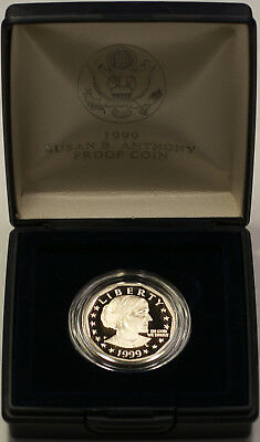 1999 Susan B. Anthony $1 Proof Coin Original US Mint Case with COA