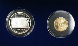 2000 P Sacagawea UNC $1 Coin with Lewis and Clark .999 Silver Medal Blue Box