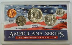 Americana Series Presidents Collection - Includes 5 Coins, Mixed Dates 3 Silver!