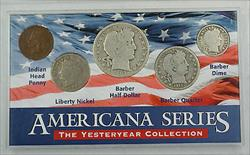 Americana Series Yesteryear Collection Silver Barber Half Dollor, Quarter & Dime