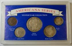 Americana Series: Yesteryear Collection W/ Silver Half, Quarter, Dime