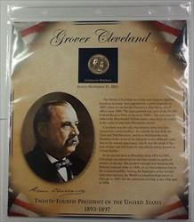 Postal Commem Society Grover Cleveland 2nd Term Presidential $1 Coin &Stamp Set