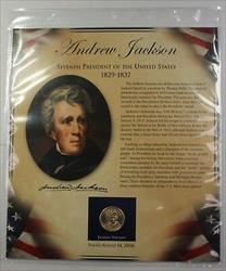 Postal Commem Society Jackson BU Presidential $1 Coin & Stamp Set in Holder