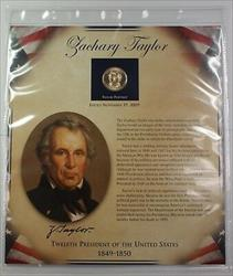 Postal Commem Society Zachary Taylor Presidential $1 Coin & Stamp Set in Holder