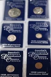 United States of America Presidential First Year Classics 6 Coins 4 are Silver