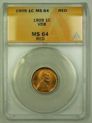 1909 VDB Lincoln Wheat Cent 1c ANACS  Red (G) (WW)