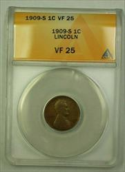 1909-S Lincoln Wheat Cent 1c ANACS  (A) (WW)