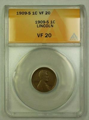 1909-S Lincoln Wheat Cent 1c ANACS  (C) (WW)