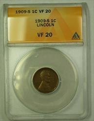 1909-S Lincoln Wheat Cent 1c ANACS  (D) (WW)