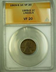 1909-S Lincoln Wheat Cent 1c ANACS  (E) (WW)