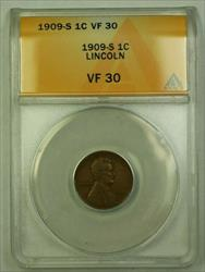 1909-S Lincoln Wheat Cent 1c ANACS  (WW)