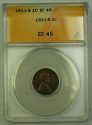 1911-S Lincoln Wheat Cent 1c ANACS  (A) (WW)