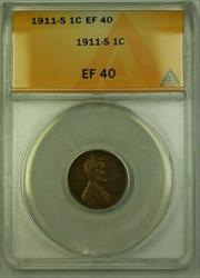 1911-S Lincoln Wheat Cent 1c ANACS  (A) (WW)