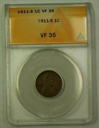 1911-S Lincoln Wheat Cent 1c ANACS  (B) (WW)