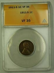 1911-S Lincoln Wheat Cent 1c ANACS  (C) (WW)