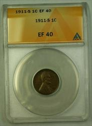 1911-S Lincoln Wheat Cent 1c ANACS  (D) (WW)