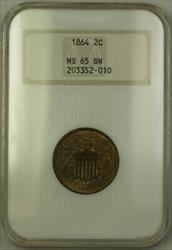 1864 2c Two Cent Piece NGC  BN Gem BU (CM)