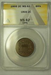 1866 2c ANACS BN (Better Coin)  (23)
