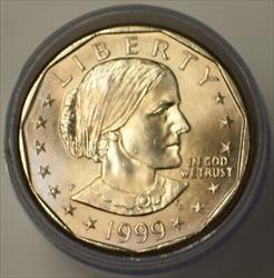1999 P $1 Susan B Anthony Dollar BU Roll 25 Coins