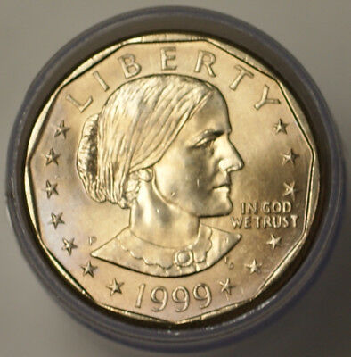 1999 P $1 Susan B Anthony Dollar BU Roll 25 Coins