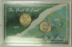 The First and Last Susan B. Anthony Dollars $1 Coin Set Morgan Mint