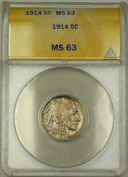 1914 Buffalo Nickel 5c ANACS  (Better Coin)